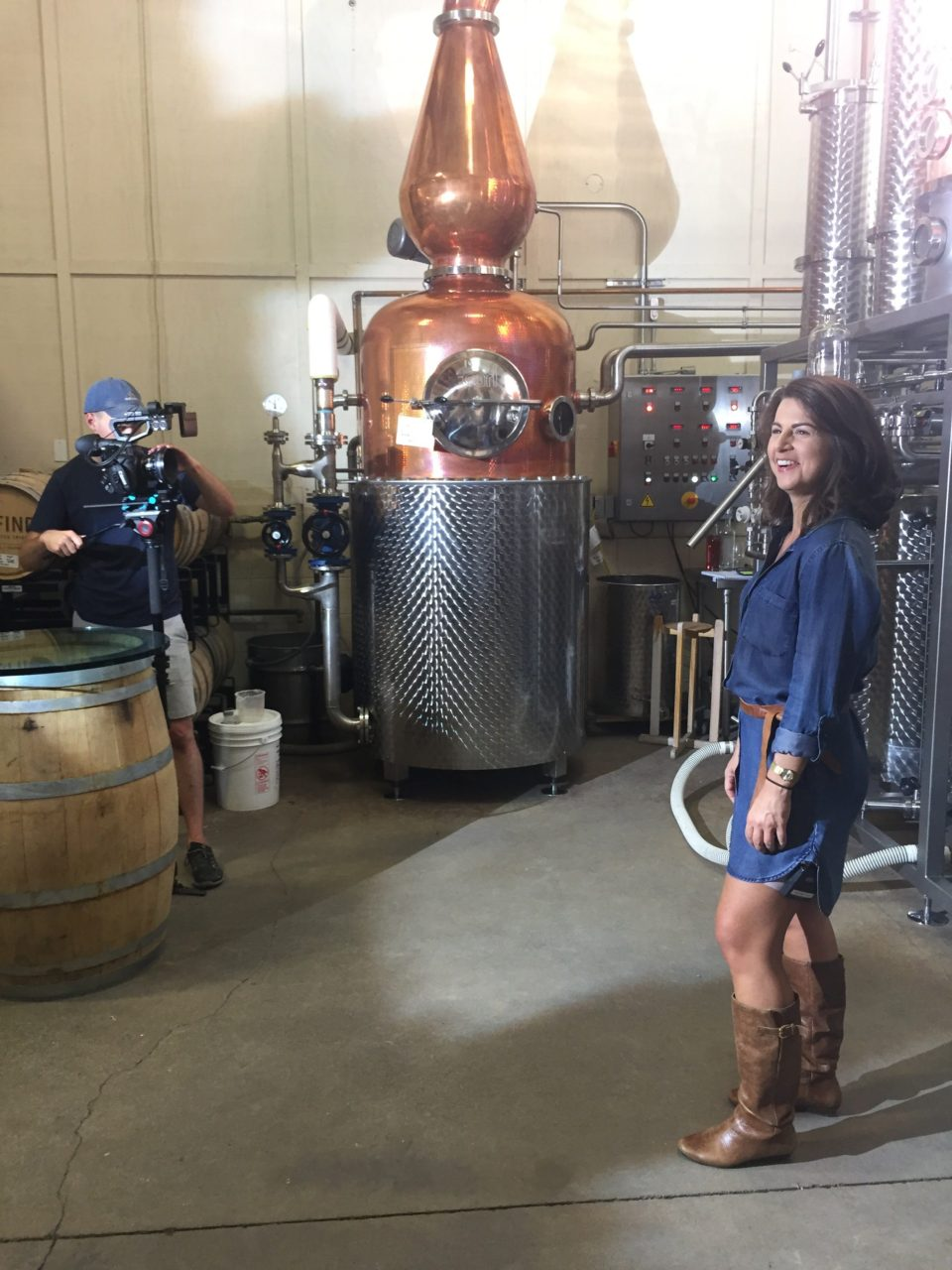 Suz at a video shoot in Paso Robles, CA