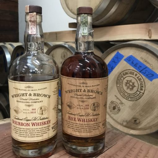 Wright & Brown Rye and Bourbon at their distillery in Oakland